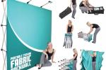 Fabric Pop Up Display 10ft Straight Single Sided (Frame & Graphic)