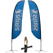 Feather Banner Stand Large Single Sided