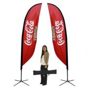 Feather Banner Stand Small Single Sided