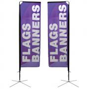 Square Banner Stand Small Double Sided