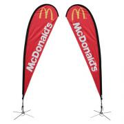 Teardrop Banner Stand Large Double Sided