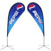 Teardrop Banner Stand Small Double Sided