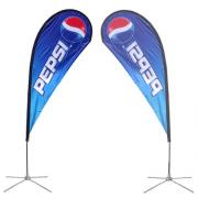 Teardrop Banner Stand Small Single Sided