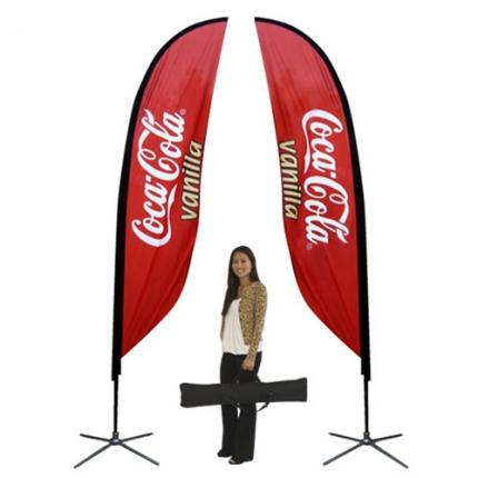 Feather Banner Stand Small Double Sided