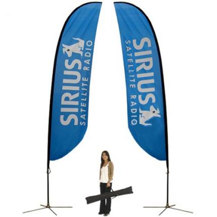 Feather Banner Stand Large Double Sided